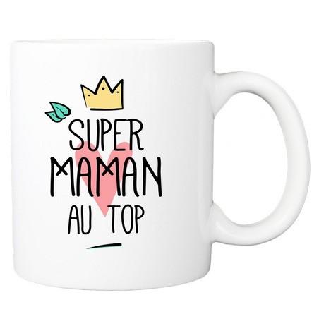 Mug personnalisé super maman au top