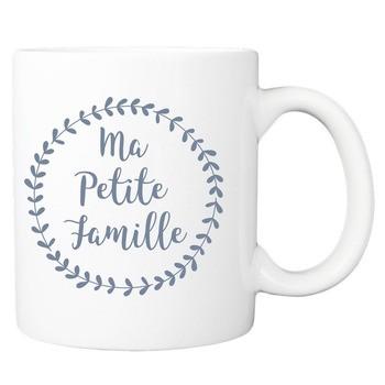 Mug Ma petite famille - bleu