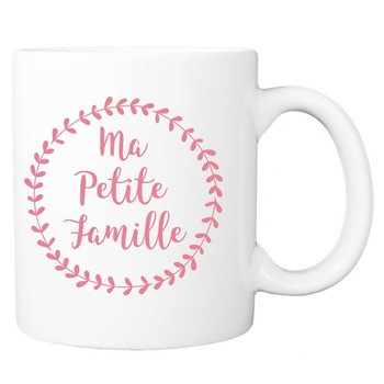 Mug Ma petite famille - rose