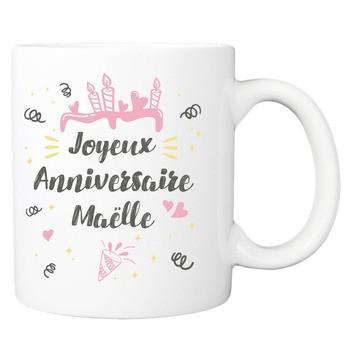 Mug Joyeux anniversaire - rose