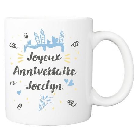 Mug Joyeux anniversaire - bleu