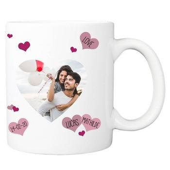 Mug Photo forme coeur
