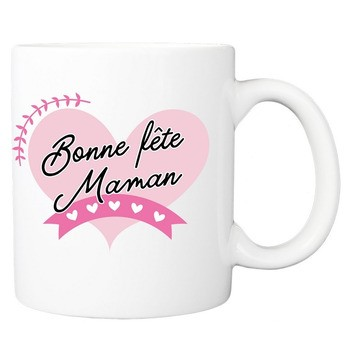 Mug Bonne fête Maman coeurs