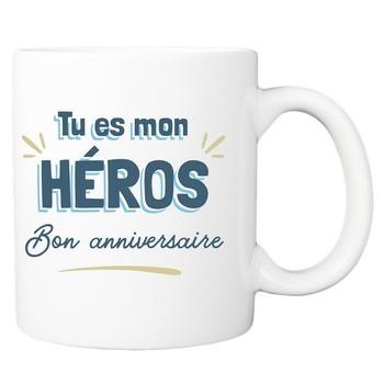 Mug Bon anniversaire mon héros