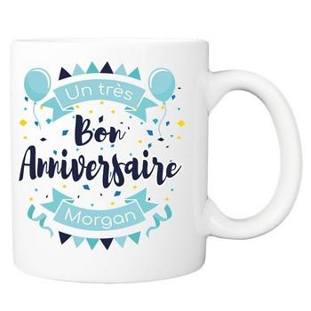 Mug Très bon anniversaire - bleu