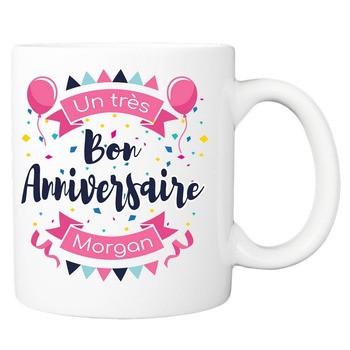 Mug Très bon anniversaire - rose