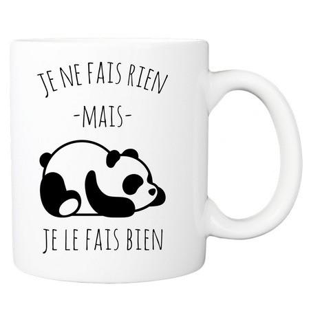 Mug personnalisé panda je ne fais rien