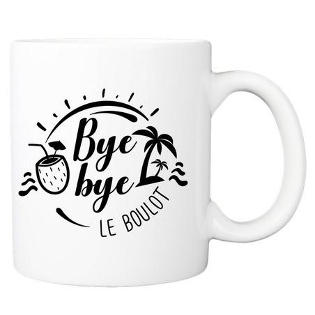 Mug personnalisé bye bye le boulot