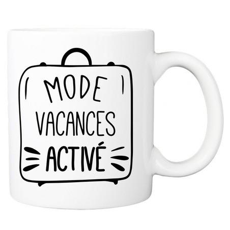 Mug personnalisé mode vacances activé