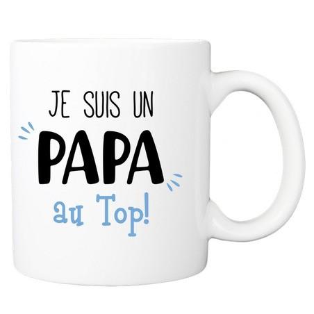 Mug personnalisé super papa au top