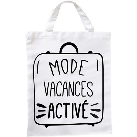 Sac de shopping mode vacances activé