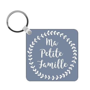 Porte-clés Photo ma petite famille - carré