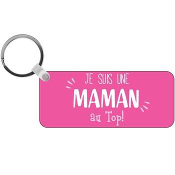 Porte-clés Maman au top - rectangle