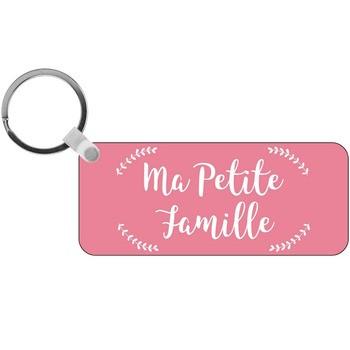 Porte-clés Photo ma petite famille - rectangle