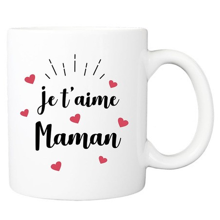 Mug personnalisé je t'aime maman
