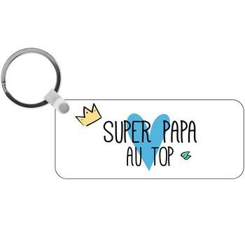Porte-clés Super Papa au Top - rectangle