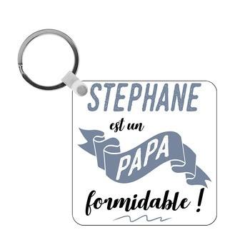 Porte-clés Papa formidable - carré