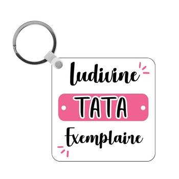 Porte-clés Tata exemplaire - carré