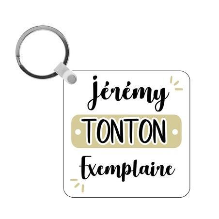 Porte-clés Tonton exemplaire - carré