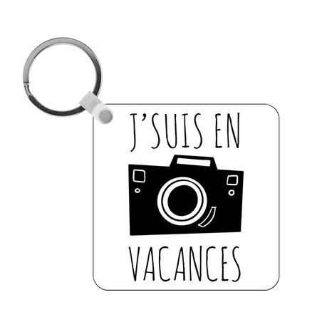 Porte-clés Vacances - carré