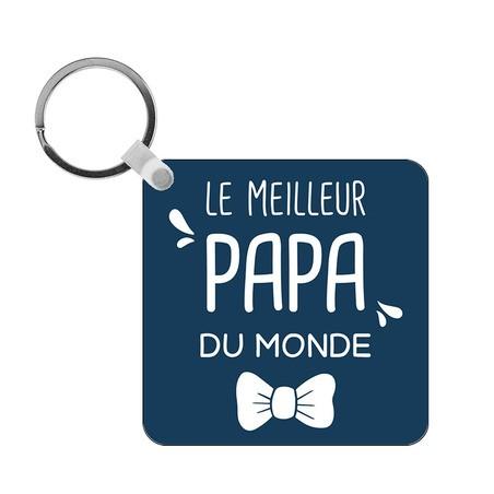 Porte-clés Meilleur Papa du monde - carré