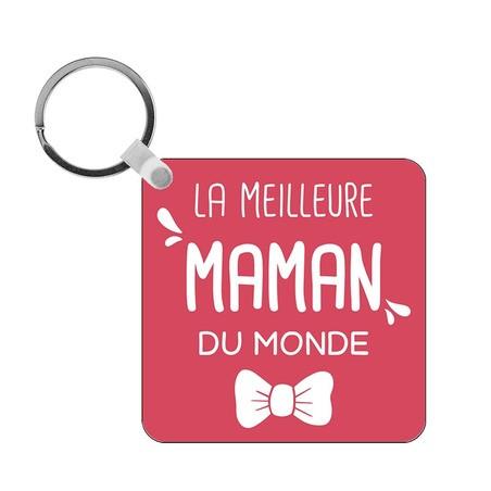 Porte-clés Meilleure Maman du monde - carré
